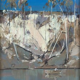 Shoalhaven Landscape with a Man in a Boat