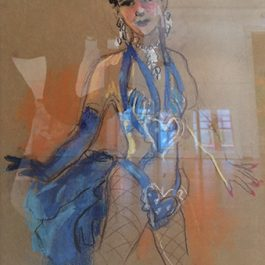 Lido Dancer with Blue Heart Costume (Paris)