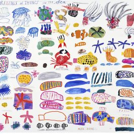 Drawings of things in the sea (Edition of 1000)