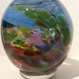 Small Orb Vase Swan Valley Landscape #1