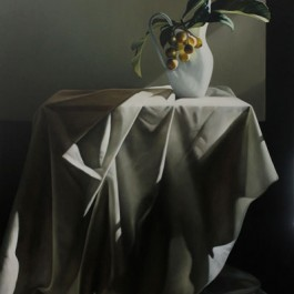 Still Life with Loquats and Drapery II