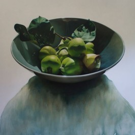 Still Life with Quinces in Blue Bowl