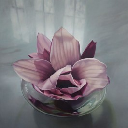 Still Life with Magnolia in Glass Bowl