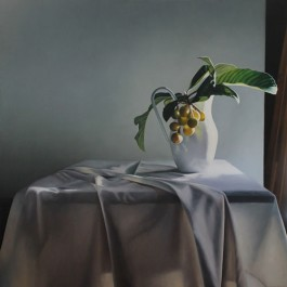 Still Life with Loquats and Drapery I