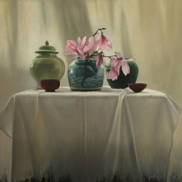 Still Life with Magnolias and Chinese Jars