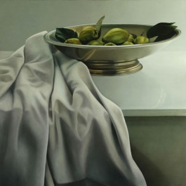 Still LIfe with Quinces in Pewter Dish