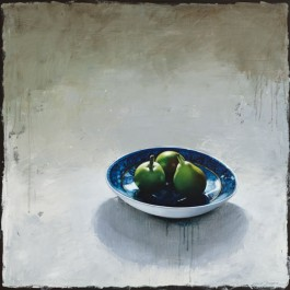 Still Life with Pears on Saucer