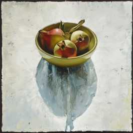 Still life with Pomegranates in Bowl
