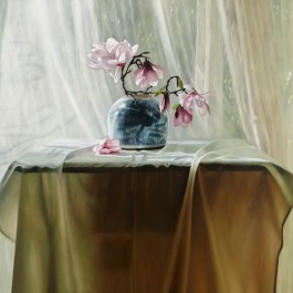 Still life with Chinese Bowl and Magnolias