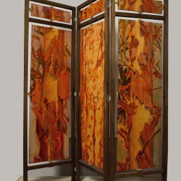 Eucalyptus Divinus (three panel screen painted both sides)