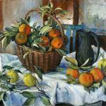 Basket of Oranges , Lemons and Jug – Margaret Olley (Edition of 150)