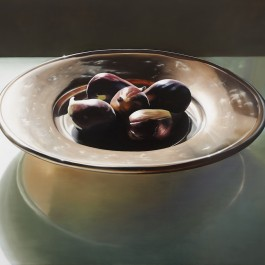 Figs on copper dish