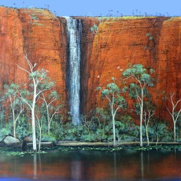 Kimberley Waterfall and the Paperbarks
