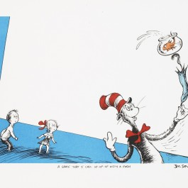 The Cat In the Hat – Up, Up With a Fish (Edition of 2500)