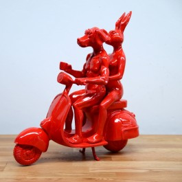 """Vespa Riders Red"" (Edition of 100)"