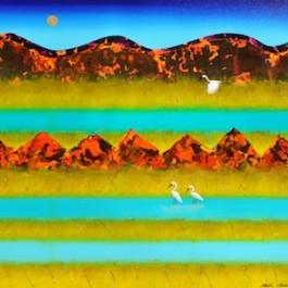 Egrets and Winter Floodplain