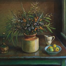 Still Life with Green Leaves