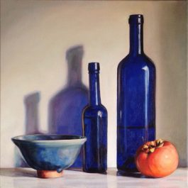 Blue Still Life with Persimmon