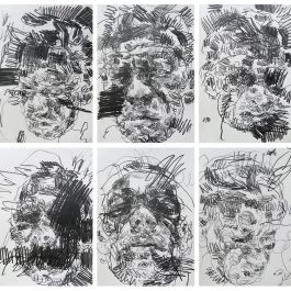 Self-portrait studies after being bashed