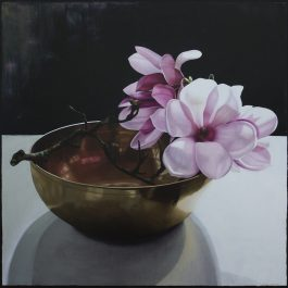 Magnolias in Brass Bowl