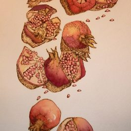 Falling Pomegranates