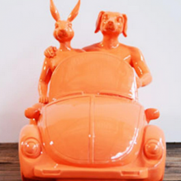 They loved driving their Beetle Convertible around the sunny shoes of the South of France (Orange)