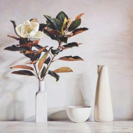White Still life with Magnolia