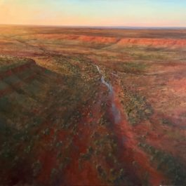 Creek Through Pilbara Ranges, Sunset
