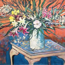 Still Life with Liliums and Spring Flowers