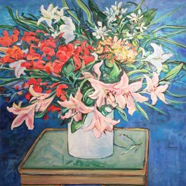 Still Life with Pink Liliums
