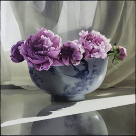 Peonies in Chinese Bowl