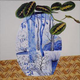 Maranta Leuconeura in a Landscape Vase