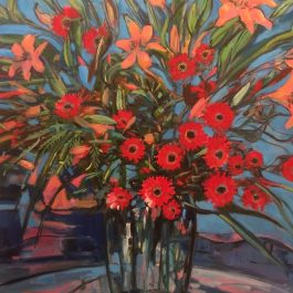 Still Life with Gerberas and Liliums
