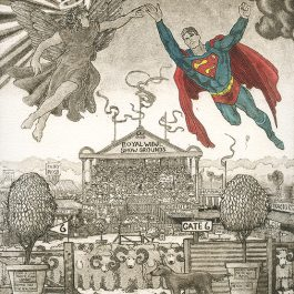 Superman Meets the Archangel Gabriel at the Widji Sheep Dog Trials