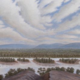 Crossing the River at Matagarup after Garling 1827
