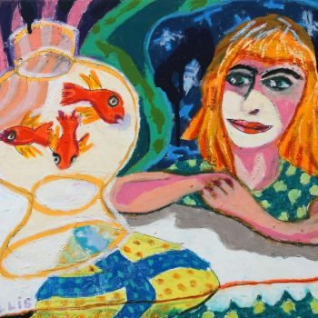 Girl and Goldfish after Matisse