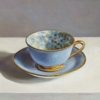 Flora Teacup, Blue