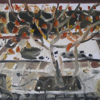 Featured Artwork of The Persimmon Tree and Garden