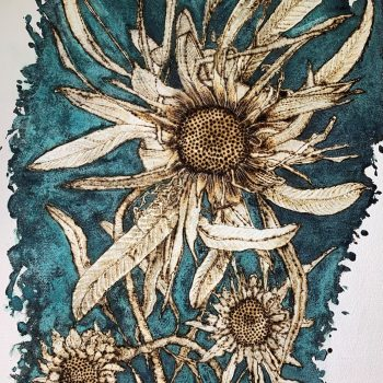 Dried Flower Study with Verdigris