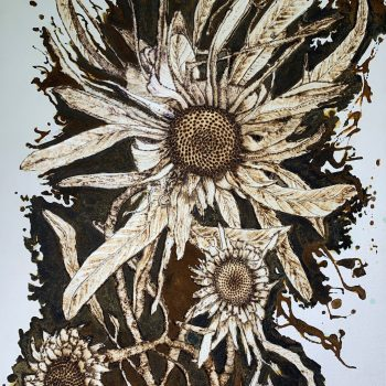 Rusty Dried Flower Study