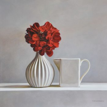 Red Geranium and Streaky Bay Jug